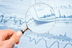 Showing business report. Showing business and financial report Royalty Free Stock Image