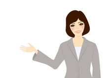 Showing Business Woman 2 Stock Photography