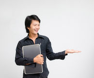 Showing businessman Stock Photo