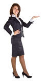 Showing businesswoman Royalty Free Stock Photography
