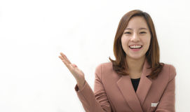 Showing businesswoman Royalty Free Stock Image