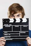 Showing a clapboard Stock Image