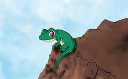 Cute animal gecko vector illustration