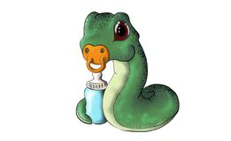 Cute animal snake royalty free stock photography