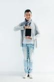 Showing digital tablet Stock Image
