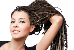 Showing the  dreadlocks Royalty Free Stock Photos