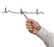 Showing ECG graph Stock Photos