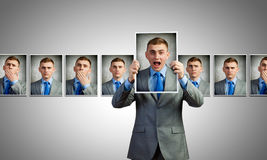 Showing  emotions Stock Images