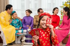 Showing envelopes for Tet holiday Stock Image