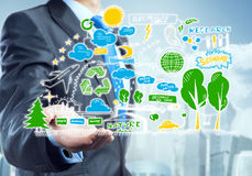 Showing environmental concept Royalty Free Stock Photo