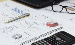 Showing equipment business capital market plan Stock Image