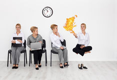 Showing everything you got at the job interview Royalty Free Stock Photography