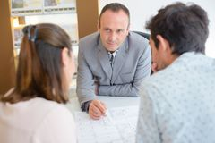 Showing the floor plan. Architect royalty free stock image