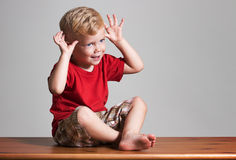 Showing funny gesture Stock Image