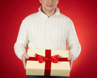 Showing giftbox Royalty Free Stock Images