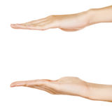Showing hands isolated Royalty Free Stock Images