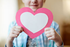 Showing heart Royalty Free Stock Images