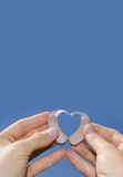 Showing a heart  shape from hearing aids Stock Photo