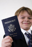 Showing his passport Royalty Free Stock Image