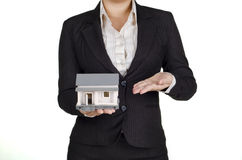 Showing a house Royalty Free Stock Image
