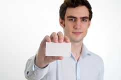 Showing ID card Royalty Free Stock Image
