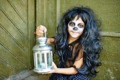 Showing lantern Stock Photography