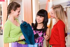 Showing new clothes Royalty Free Stock Photography
