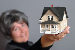 Showing off a house Stock Photography