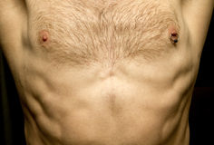 Showing Off A Pierced Nipple Stock Images