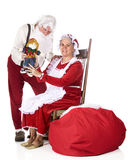 Showing Off Santa's Work Stock Photography