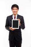 Showing pad PC business man Stock Photo