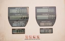 Showing petrol fuel price on a gas station board in india. Petrol fuel price on a gas station board stock photos