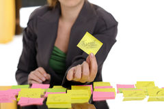 Showing post it Stock Photo