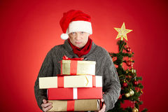 Showing presents Stock Images