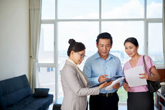 Showing renting agreement Stock Images