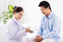 Showing results of medical examination Royalty Free Stock Photos