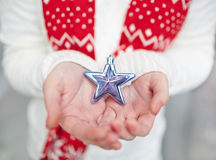 Showing silver star Royalty Free Stock Images