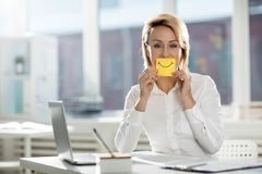Showing smile stock photography