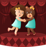 Showing on stage Royalty Free Stock Images