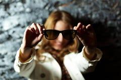 Showing sunglasses Stock Image
