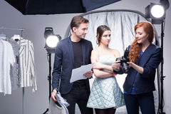 Showing The Results Of A Fashion Photo Shoot Royalty Free Stock Photo