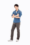 Showing thumb Asian young  man Stock Image