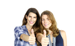 Showing thumbs Up Royalty Free Stock Images
