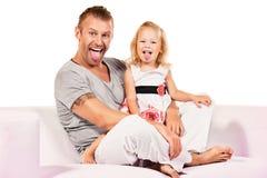 Showing tongue Royalty Free Stock Photo