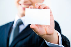 Showing visiting card Stock Image