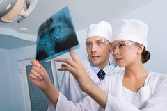 Showing x-ray photography Royalty Free Stock Photo