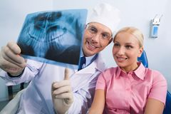Showing x-ray photography Royalty Free Stock Images