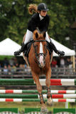 Showjumping action Stock Photo