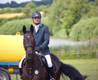 Before showjumping competition Stock Images