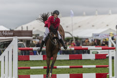Showjumping at the Edenbridge and Oxted Agricultural show 2015 Royalty Free Stock Photos